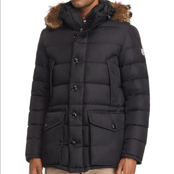 31f2f5fb4182 Moncler • Black Cluny Parka Down Coat. M 5bb165582beb7931be4040fd